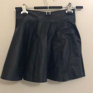 Romwe black mini skirt